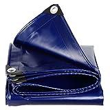 CHAOXIANG Plane Gewebeplane Verdicken Draussen Faltbar Regenfest Antiseptikum Sonnencreme Oxford Segeltuch, 550G / ㎡, 14 Größe (Farbe : Blue, größe : 3 * 4m)