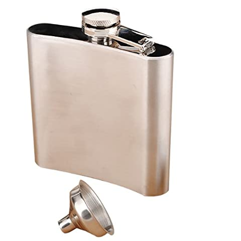 6Oz Stainless Steel Pocket Whisky Liquor 6 Oz Hip Flask With