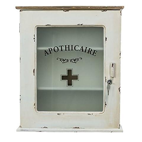 Vintage Style Medicine Cabinet White 47 x 15 x 55 cm