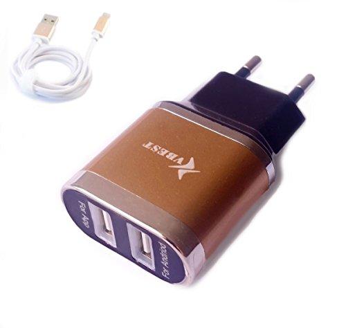 Gebraucht, 2 Port USB Netzteil mit kabel Ladegerät für iphone gebraucht kaufen  Wird an jeden Ort in Deutschland