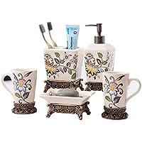 Yvonnelee cerámica Set Serie baño Accesorio 5SET Inodoro Juego de Botellas  de loción Accesorios para baño f141b289c64f