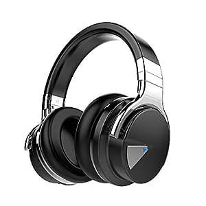 COWIN E7 Active Noise Cancelling Bluetooth Kopfhörer Over Ear Wireless Headphones mit Mikrofon, 30-Stunden-Spielzeit, Schwarz