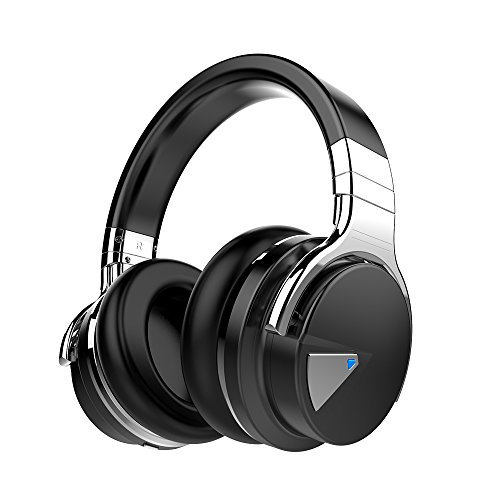 COWCOWIN E7 Kabellose Bluetooth Kopfhörer Over Ear Wireless Headphones mit Mikrofon, schwarz thumbnail