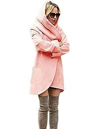 3f69d9c4a41c Femme Hiver Chaud Mélange de laine Manteau Veste Longue Casual Tops Manteau  Veste Trench Coat