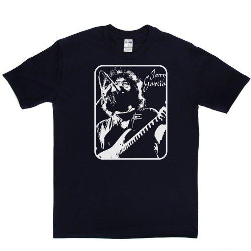 Jerry Garcia American Musician Grateful Dead T-shirt Marineblau