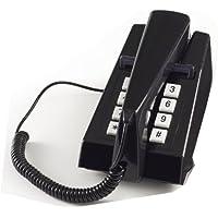 Steepletone STP1975PB Trimphone nero con pulsanti, stile Retro, con telefono cellulare 1970s-Montabile a parete