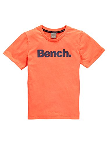 Bench Jungen T-Shirt Corp Tee Orange (Soft Neon Coral-As Swatch OR11200), 128 (Herstellergröße: 7-8) (Coral Neon)