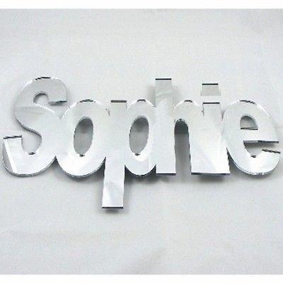 Super Cool Creations Nombres de Espejo a Medida