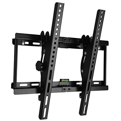 TV Staffa Supporto a Muro per 30 a 55 Pollici LCD LED Plasma TV Super-forza Capacità di carico fino a 55KG, Meccanismo di Inclinazione 15 ° Spirito Libero, Max VESA 400x400 (Inclinabile)