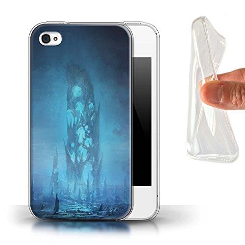 Offiziell Chris Cold Hülle / Gel TPU Case für Apple iPhone 4/4S / Pack 12pcs Muster / Fremden Welt Kosmos Kollektion Rest