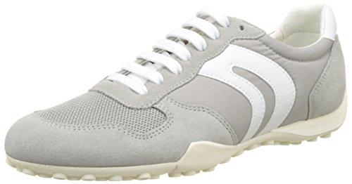 Geox D Snake A, Sneakers Basses Femme Gris (LT GREYC1010)