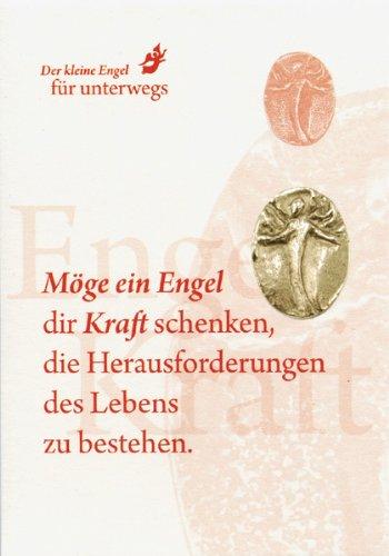 Kleine Silber-Bronze Engel Figur (2,5 x 2 cm) Medaille od. Münze als Glücksbringer oder Talisman - Engel der Kraft (Silber-herausforderung Münze)