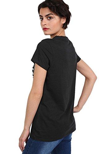 PILOT® schnüren Vorderseite bedruckt T-Shirt up Schwarz