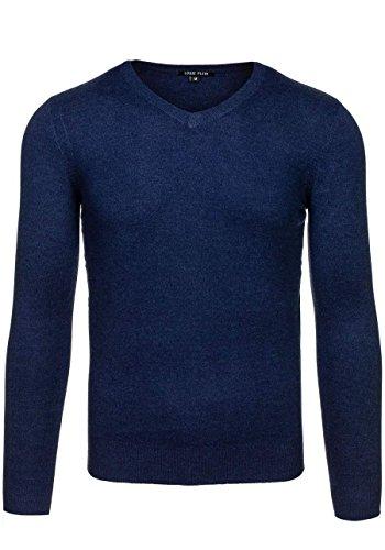 BOLF Herrenpullover Pulli Sweatshirt Sweatjacke Sweater Top MIX Dunkelblau_6007