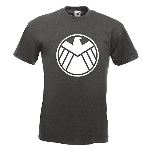 KIWISTAR - Agents of S.H.I.E.L.D. T-Shirt in 15 verschiedenen Farben - Herren Funshirt bedruckt Design Sprüche Spruch Motive Oberteil Baumwolle Print Größe S M L XL XXL Graphit