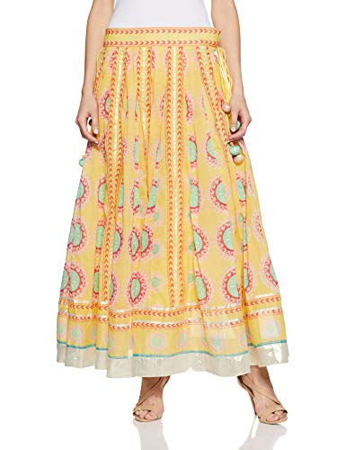 W for Women Full Maxi Skirt (18FE55418-51555_Yellow_WS)