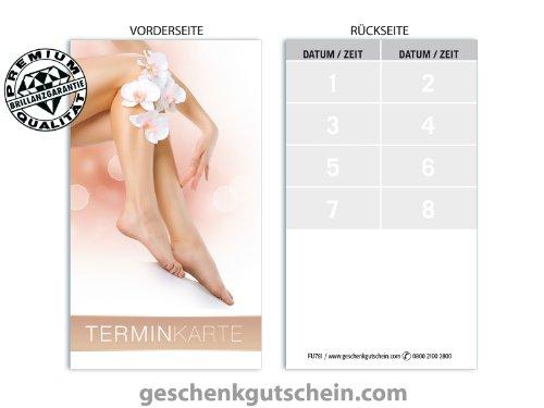 Terminkarten FU781 für Fußpflege, Nagelstudio, Podologie und Pediküre