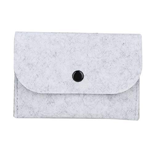 Jeffergarden Modische Wollfilz-Brieftasche mit Mini-ID-Kreditkarten, Tasche halten (Weiß) -