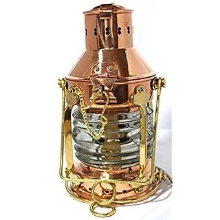 Antik 2000 Ankerlampe elektrisch Maritime Beleuchtung Bootslampe aus Kupfer und Messing