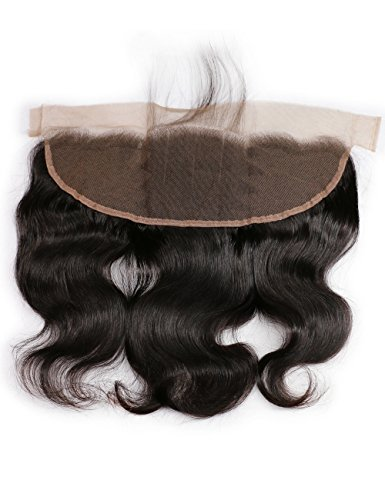 10 Inches Free Part : Slove Hair Frontal Lace Closure Ear to Ear Body Wave Lace Frontal Closure 100% Unprocessed Brazilian Virgin Remy Human Hair 13X4 Bleacked Knots Closure Free Part 10 Inches