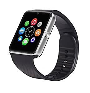 YGS GT08 Bluetooth Smart Watch with SIM Card Slot And NFC Cell Phone Watch Phone Remote Camera Pedometer Tracker Watch for Apple iPhone 6 Plus-Silver