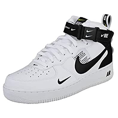 check out db712 f066f Image Unavailable. Image not available for. Colour  NIKE Air Force 1 Mid 07  Lv8 Mens Trainers White Black ...