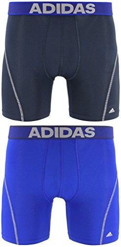 Confezione da 2 boxer Adidas da uomo ClimaCool (Urban/Light Onyx)/(Bold Blue/Light Onyx)