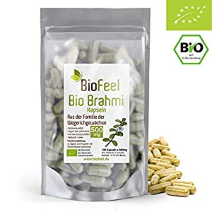 BioFeel – BIO Brahmi Kapseln, 120 Stk, 500mg – Bacopa Monnieri – Ayurveda