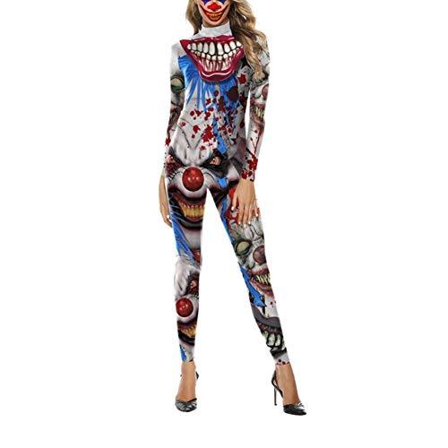 Plus Größe Harem Kostüm - zhuyu Cosplay Halloween Ghost Festival Kostüm 3D Horror Strampler Druck Arbeitskleidung Party Erwachsene Party Kostüm, Clown, M