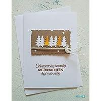 """Weihnachtskarte""""Tannenbäume"""" (10 cm x 15cm)"""
