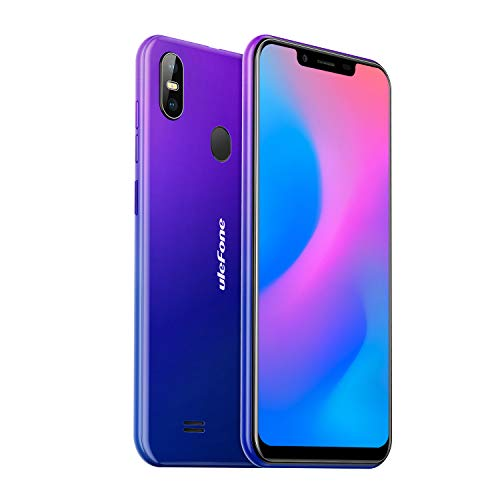 Ulefone S10 Pro Dual-SIM LTE Android 8.1 Smartphone ohne Vertrag (14.48cm(5.7 Zoll) 19:9 Display, 16GB + 2GB, 16MP + 5MP + 8MP Dual Kameras Triple Solts, 3350mAh Face ID Fingerabdruck OTG) Twilight