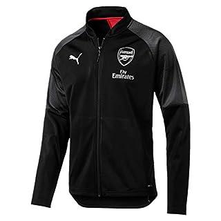PUMA Herren Arsenal FC Stadium mit Zipped Pockets Trainingsjacke, Schwarz (Puma Black-Chili Pepper), M (Herstellergröße: M)
