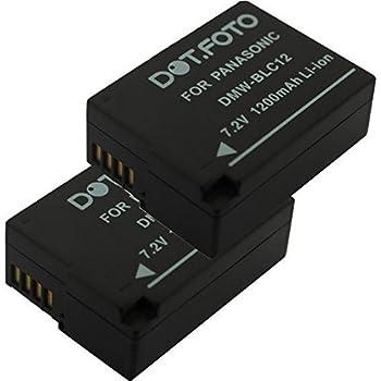 GX8K DE A80 Dual Ladegerät DMW BLC12 für Panasonic Lumix