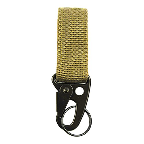 Gurt Mit Schnalle Gurtband (Karabiner-Armband,BEETEST Multifunktions-Nylon Tactical Gurtband mit Karabinerhaken Schnalle Gürtel Schlüsselanhänger Halter Schnellverschluss mit Klettverschluss Band Khaki)