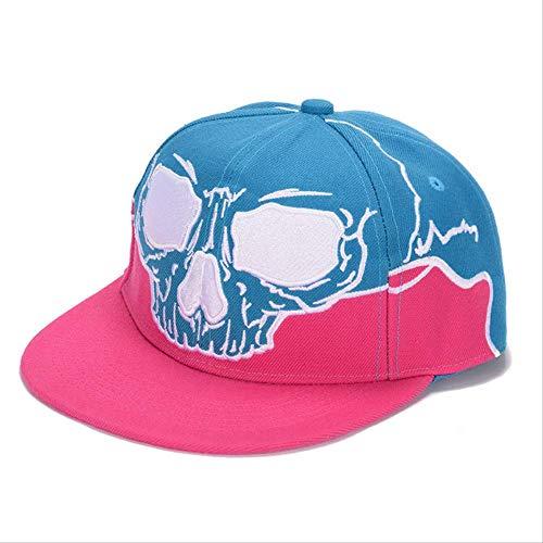 LJZXXK Männliche Dame Dämon Hip Hop Hut Visier Baseball Cap Stickerei Flache Krempe Hut See blau -