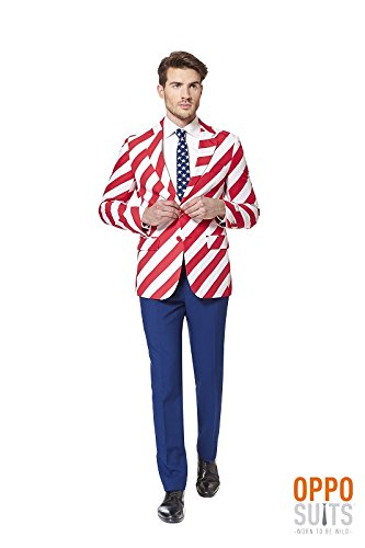 Opposuit United Stripes - SlimFit Gr. 54 (Us Flagge Anzug)