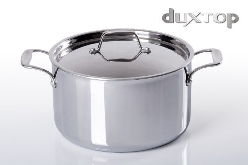 Duxtop Whole Clad Tri-Ply Stainless Steel Induction Ready Premium Cookware SaucePan with Cover 6 1/2 Quart by Secura