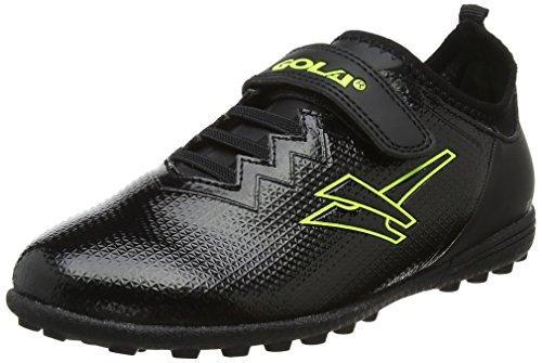 Gola Alpha VX Velcro, Unisex-Kinder Fußballschuhe, Schwarz (Black/Volt), 28 EU (10 UK)