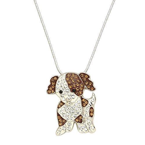 Lola Bella Gifts Damen Kristall Cavalier King Charles Spaniel Halskette mit Geschenk-Box -