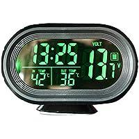 Abboard - Termómetro Digital de Reloj para Coche, Monitor LCD Digital de Coche, termómetro
