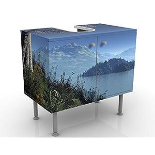 Design Vanity Winter Fairytale 60x55x35cm, small, 60cm wide, adjustable, wash basin, vanity unit, washstand, bathroom cupboard, base unit, bathroom, narrow, flat