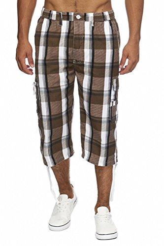 Herren Cargo-Shorts · (Relaxed Fit) Sportliche karierte Capri, kurze Cargo Pant für den Sommer, Bermuda Hose mit Karo Print und Tunnelzug · H1714 von Max Men (Relaxed Fit Shorts)