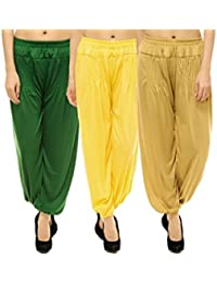 Pietra Viscose Solid Harem Pants Combo for women(Pack of 3)