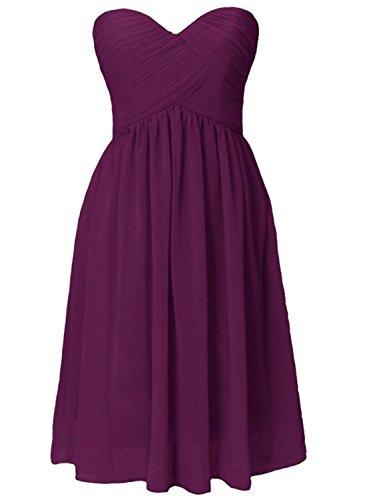 AZBRO Damen Elegantes Ärmelloses Maxi Abendkleid mit Metallplatten und aus Chiffon Purple