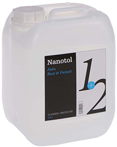 Nanotol Testsieger Regenabweiser Scheibenversiegelung 2in1 Cleaner+Protector - Reinigung & Nanoversiegelung | Autopflege mit Lotuseffekt | Profi-Autoscheiben-Versiegelung (5 Liter)