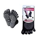YogaAddict Yoga Full Toe Socks, Pilates, Dance, Barre, Anti Slip Non Skid Grip