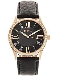 ec13cc05ec8b Bertha Sadie BRD8400 - Reloj de Cuarzo para Mujer con Esfera de Cuero  Genuino