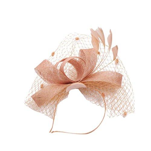 Burlesque Mädchen Kostüm - TUDUZ Fascinator Blume Mesh Bänder Federn