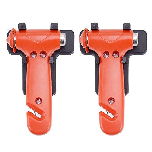 Preisvergleich Produktbild Auto Hammer, cymax Auto Safety Life Escape Hammer Sicherheitsgurt Cutter Fenster Breaker Hammer Werkzeug, in der Notfall Life Saving Survival Kit, 2 Pack (klein)