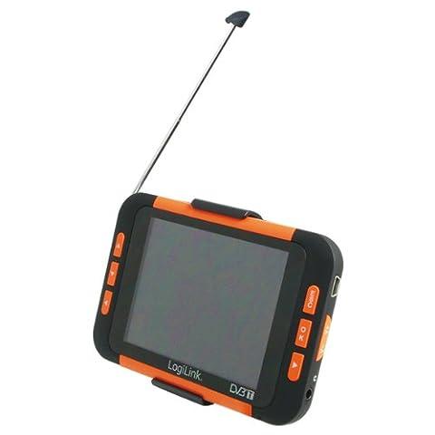 LogiLink Tragbarer DVB-T Player (8,9 cm (3,5 Zoll) Display, Radio, MP3) schwarz / orange